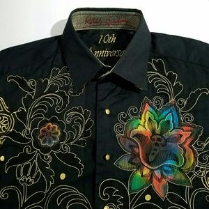 Robert Graham Dress Shirt 10th Anniversary  Black